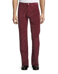 Dockers Corduroy Straight Leg Pants Red