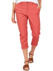 Fat Face Lulworth Chino Cropped Trousers Watermelon