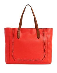 Splendid Key Largo Faux Leather Tote Tomato
