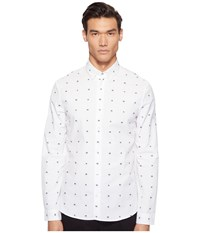 Mcq By Alexander Mcqueen Googe Button Up Optic White