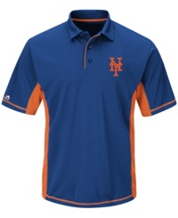 Majestic Men's New York Mets Top Of The Inning Polo Royalblue
