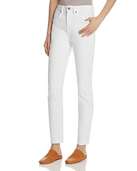 Vince Skinny Ankle Jeans In White