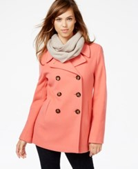 Calvin Klein Petite Wool Cashmere Blend Peacoat Sunset
