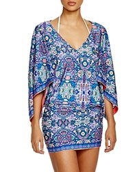 Laundry By Shelli Segal Pretty Partridge Tunic Swim Cover Up Midnight