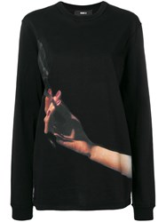 Yang Li Printed Cigarette Sweatshirt Black