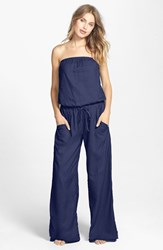 Women's Hard Tail Strapless Shelf Bra Jumpsuit Marine