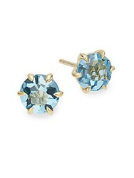 Ippolita Rock Candy London Blue Topaz And 18K Yellow Gold Round Stud Earrings Gold Blue