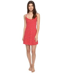 Only Hearts Club Heritage Heart Supima Racerback Chemise Rosehip White Women's Pajama Red