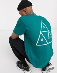 Huf Essentials Triple Triangle T Shirt In Green