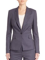 Boss Jifabio Striped Blazer Deep Cobalt