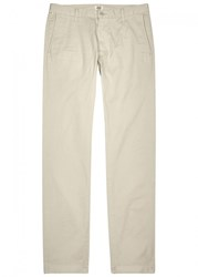 Citizens Of Humanity Davis Light Stone Tapered Cotton Chinos Off White