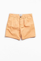Urban Outfitters Uo Pleated Chino Dad Short Peach