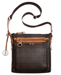 Giani Bernini Handbag Block Signature Crossbody Brown