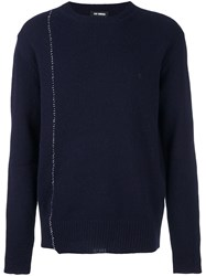Raf Simons Stitch Detail Jumper Blue