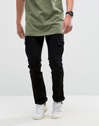 Loyalty And Faith Tapered Cargo Pants Trousers In Black
