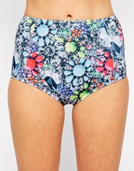 Jaded London Bright Jewel High Waisted Bikini Bottoms Brightjewel