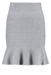 Noisy May Nmkatnis Mini Skirt Light Grey Melange Mottled Light Grey