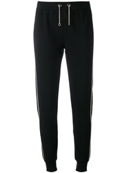 Philipp Plein Track Pants Women Cotton Spandex Elastane S Black