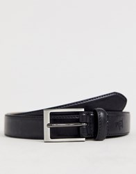 Original Penguin Smart Leather Belt In Black