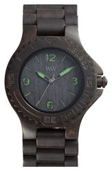 Wewood 'Kale' Wood Bracelet Watch 42Mm Black Green