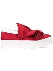 N 21 No21 Bow Detail Slip On Sneakers Red