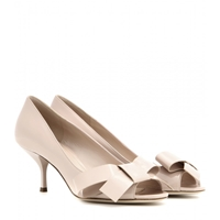 Miu Miu Patent Leather Peep Toe Pumps