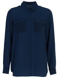 French Connection Pippa Plains Shirt Nocturnal
