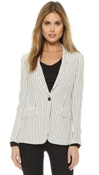 Rag And Bone Belmar Blazer Black White Stripe