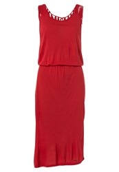 O'neill Ocean Side Summer Dress Rococco Red