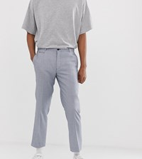 Noak Slim Fit Cropped Suit Trousers In Texture Blue