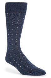 Nordstrom Men's Men's Shop Box Dot Crew Socks Navy