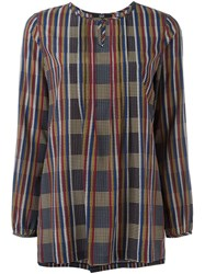 Steffen Schraut 'French Check' Blouse Black