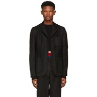Comme Des Garcons Shirt Black Workstitch Blazer