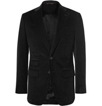 Thom Sweeney Black Scabal Slim Fit Cotton Corduroy Blazer Black