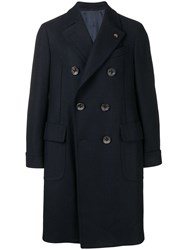 Gabriele Pasini Double Breasted Coat Blue
