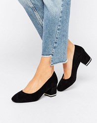 New Look Metal Block Heeled Shoe Black