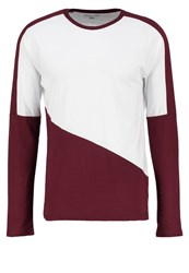 Your Turn Long Sleeved Top Bordeaux White