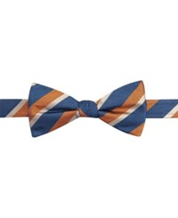 Countess Mara Repp Stripe Pre Tied Bow Tie Orange