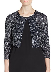 Aidan Mattox Beaded Cropped Bolero Jacket Twilight
