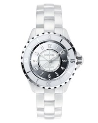 Chanel J12 Mirror 38Mm White Ceramic And Steel Watch