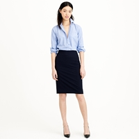 J.Crew Pencil Skirt In Italian Stretch Wool