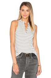 Project Social T Hank Stripe Tank White