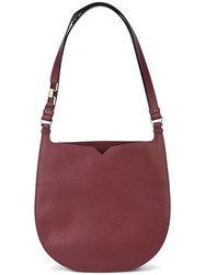 Valextra Weekend Hobo Bag Red
