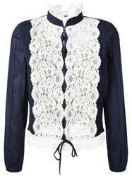 See By Chloe Embroidered Blouse Blue