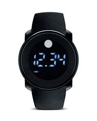 Movado Bold Black Touch Screen Led Digital Display Watch 45Mm No Color