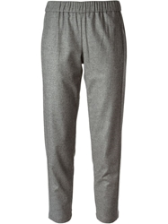 Theory 'Korene' Feather Flannel Trousers Grey