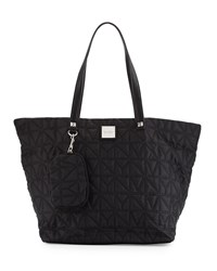 Nicole Miller City Life Quilted Tote Bag Black
