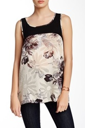 Stella And Jamie Flora Tank Black