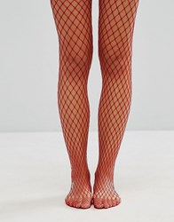 Gipsy Extra Large Fishnet Tights Red