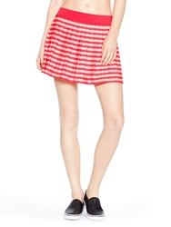 Kate Spade Georgica Beach Stripe Cover Up Skirt Geranium